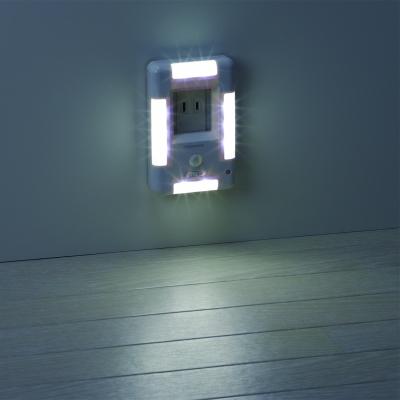 YAZAWA(ヤザワ) 【訳あり・在庫処分】ナイトライト 人感明暗ウォール型(4方向タイプ)  NASMN12WH 画像3