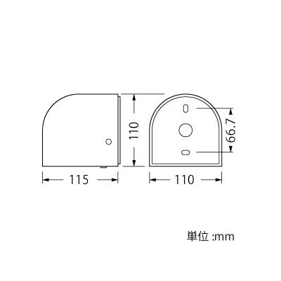 山田照明 LEDランプ交換型エクステリアブラケットライト 屋外用壁付灯 明暗センサー付 防雨型 白熱40W相当 電球色 E17口金 ランプ付 ダークシルバー  AD-2695-L 画像2