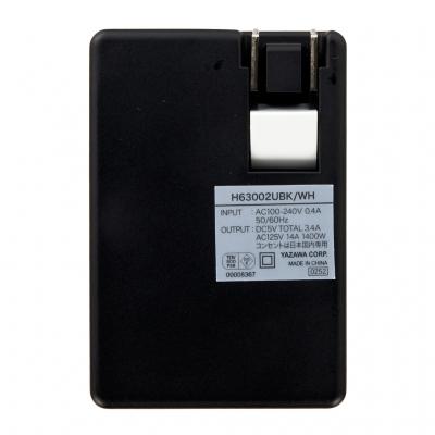 YAZAWA(ヤザワ) 【在庫限り】USBタップ 1AC+2USB 3.4A ブラック  H63002UBK 画像3