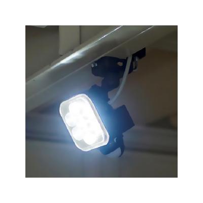 RITEX(ライテックス) フリーアーム式LEDセンサーライト 防雨型 コンセント式タイプ 天井取付可 8W×1灯 750lm ハロゲン150W相当  CAC-8 画像2