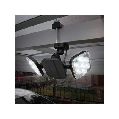 RITEX(ライテックス) フリーアーム式LEDセンサーライト 防雨型 コンセント式タイプ 天井取付可 8W×2灯 1500lm ハロゲン300W相当  CAC-16 画像2