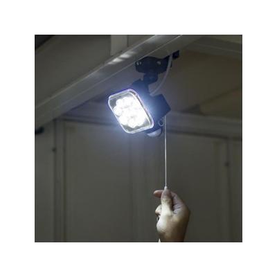 RITEX(ライテックス) フリーアーム式LEDセンサーライト 防雨型 コンセント式タイプ 天井取付可 12W×1灯 1000lm ハロゲン200W相当 ひもスイッチ付  CAC-12 画像2