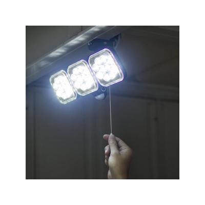 RITEX(ライテックス) フリーアーム式LEDセンサーライト 防雨型 コンセント式タイプ 天井取付可 12W×3灯 3000lm ハロゲン600W相当 ひもスイッチ付  CAC-36 画像2