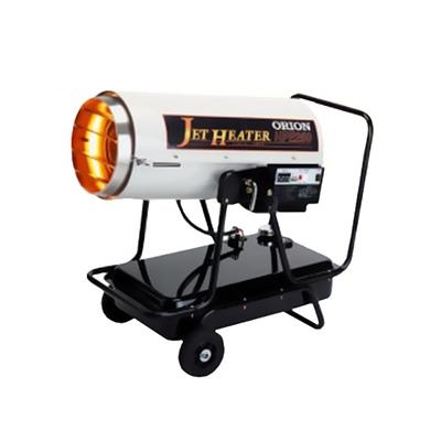 オリオン機械 可搬式温風機 ジェットヒーターHP Eシリーズ 業務用 単相100V 環境配慮型 高圧噴霧式 2段燃焼切替 木造38坪/コンクリート52坪 HPE250