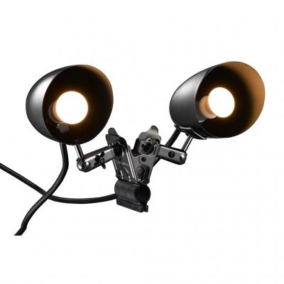YAZAWA(ヤザワ) 防雨型E17クリップライト2灯タイプ 電球付属 CWW40W02GM