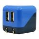 藤本電業 AC充電器 《COLOCORO》 USB2ポート 最大合計2.1A ライトブルー&ブルー CA-04LBL/BL