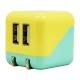 藤本電業 AC充電器 《COLOCORO》 USB2ポート 最大合計2.1A イエロー&ライトブルー CA-04YE/LBL