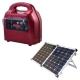 ジェフコム ポータブルハイブリット蓄電器 ソーラーセット 2way充電、出力 PC-300HYB-SET 画像1