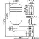 カクダイ A型石ケン水入れ 容量350ml ビス付 石ケン水容器 2057M 画像2