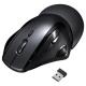 サンワサプライ ワイヤレスエルゴレーザーマウス 2.4GHz USBコネクタ(Aタイプ) 大型サイズ ブラック MA-WLS70BK