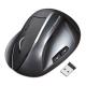 サンワサプライ ワイヤレスエルゴレーザーマウス 2.4GHz USBコネクタ(Aタイプ) 大型サイズ ブラック MA-ERGW4
