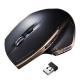 サンワサプライ ワイヤレスブルーLEDマウス 2.4GHz USBコネクタ(Aタイプ) 大型サイズ ブラック MA-WBL34BK
