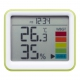 YAZAWA(ヤザワ) 時計付き置き型デジタル温湿度計 グリーン DO03GR 画像2