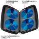 サンワサプライ ブルーレイディスク対応セミハードケース ファスナータイプ 56枚収納 ブルー FCD-WLBD56BL 画像3