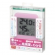 YAZAWA(ヤザワ) 熱中症・インフルエンザ警報付きデンジタル温湿度計 ピンク DO02PK