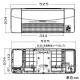 高須産業 涼風暖房機 浴室用 防水タイプ 適用面積1.5坪以下 AC100V 12A 電源コード(棒端子接続)タイプ ワイヤレスリモコン付 SDG-1200GBM 画像3