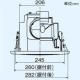 三菱 ダクト用換気扇 丸形グリル 天井埋込形 丸穴据付タイプ サニタリー用 低騒音形 接続パイプφ100mm 埋込寸法φ250mm VD-13ZCC5-M 画像4