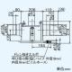 三菱 ダクト用換気扇 中間取付形ダクトファン 排気専用 定風量タイプ 24時間換気機能付 サニタリー用 1〜2部屋換気用 DCブラシレスモーター搭載 接続パイプφ100mm V-13ZMVC3 画像2