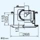 三菱 ダクト用換気扇 中間取付形ダクトファン 排気専用 定風量タイプ 24時間換気機能付 サニタリー用 1〜2部屋換気用 DCブラシレスモーター搭載 接続パイプφ100mm V-13ZMVC3 画像4