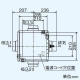 三菱 ダクト用換気扇 中間取付形ダクトファン 排気専用 定風量タイプ 24時間換気機能付 サニタリー用 2~3部屋換気用 DCブラシレスモーター搭載 接続パイプφ100mm 羽根径140mm V-15ZMVC3 画像3