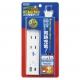 YAZAWA(ヤザワ) 国内海外兼用タップ 2個口+USB1ポート +TypeC 1ポート  3.9A 1m VFC39A2AC1C