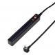 YAZAWA(ヤザワ) 差込みフリータップ ロングブレーカーSW付 1.5m ブラック H6LS10115BK 画像2