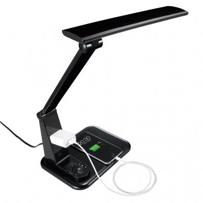 YAZAWA(ヤザワ) JIS AA形 調光機能付10WLED学習スタンド コンセント付 ブラック GSLA10D01BK