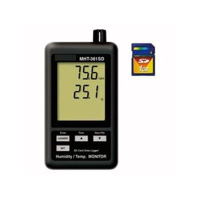 マザーツール デジタル温湿度計 SDカードデータロガ SDカード(4GB)付 MHT-381SD