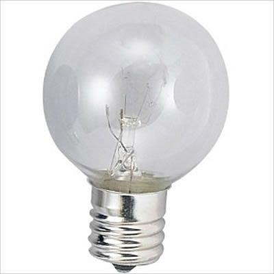 アサヒ ボール電球 クリア 25W E14口金 直径40mm G40E14110V25WC
