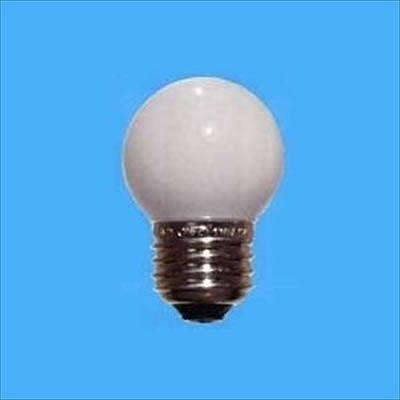 アサヒ ボール電球 ホワイト 5W E17口金 直径40mm G40E17110V5W
