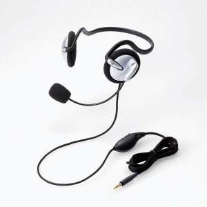 ELECOM(エレコム) 4局ヘッドセットマイクロフォン 両耳 ネックバンド シルバー HSNB05TSV