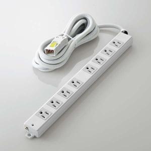 ELECOM(エレコム) 法人用タップ ハーネスタップ 8口 抜け止めなし 3m TWHRM3830NN/RS
