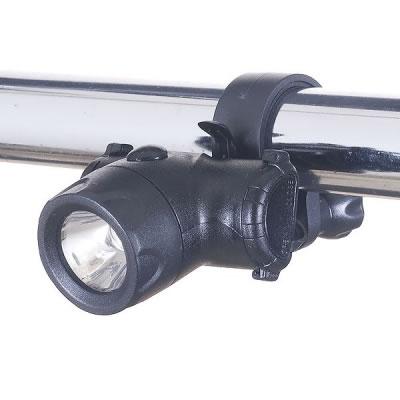 YAZAWA(ヤザワ) 【在庫限り】自転車用LEDライト コンパクトタイプ 日亜製白色LED0.5W×1灯 LB102BK