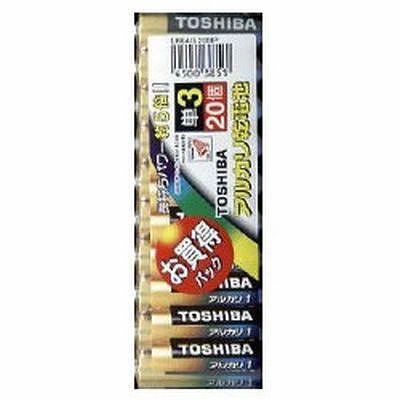 東芝 アルカリ単3形乾電池お買得パック(20本入り)×10 LR6AG20MP