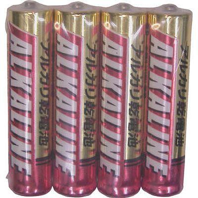 三菱 アルカリ単4電池4本P(100パックセット) LR03R4S-SET100