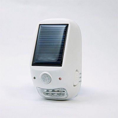 YAZAWA(ヤザワ) 屋外用ソーラー式LEDセンサーライト NL57WH