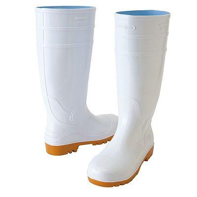 アイトス ★長靴(先芯入り) ホワイト 25.0cm 耐油底 AZ4437-001-25