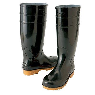 アイトス ★長靴(先芯入り) ブラック 25.5cm 耐油底 AZ4437-010-25.5
