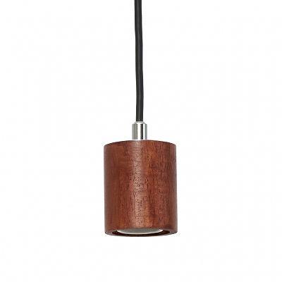 YAZAWA(ヤザワ) ウッドヌードペンダントライト(ダクトレール用) シリンダー ダークウッド 電球なし(1灯) Y07ICLX60X04DW