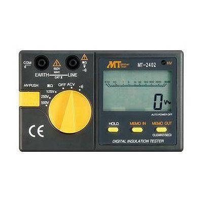 マザーツール デジタル絶縁抵抗計 定格測定電圧:125V・250V・500V メモリ・データホールド機能付 MT-2402