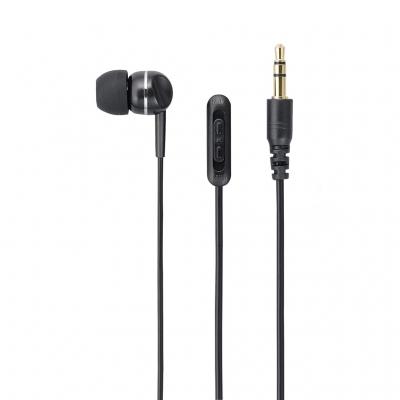 YAZAWA(ヤザワ) 【在庫限り】ボリューム付片耳イヤホン 5.0m カナルタイプ Y01TMS1085BK