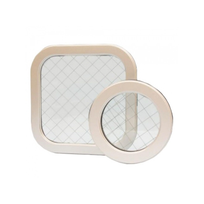 篠原電機 アルミ窓枠 プレス製汎用タイプ APY型(角型) IP55 強化ガラス APY-2020K