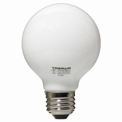 YAZAWA(ヤザワ) ボール電球60W形ホワイト GW100V57W70