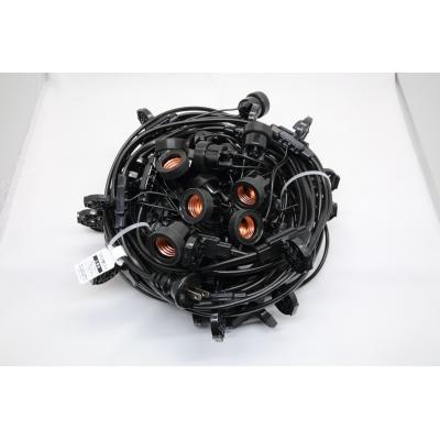 長谷川製作所 ワンタッチ提灯コード ライトタイプ 屋内用 30灯 全長17.5m E26ソケット 防水プラグ付 CCA175L30P05