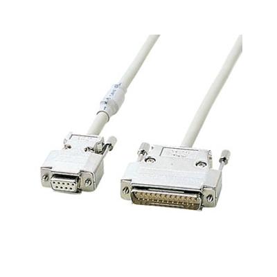 サンワサプライ RS-232Cケーブル モデム-TA用結線 ツイストペア線 UL2464規格 ケーブル長6m KRS-3106FN