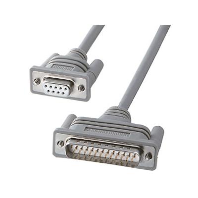 サンワサプライ RS-232Cケーブル モデム・TA・周辺機器用 モデム-TA用結線 ケーブル長1.5m KRS-413XF1K