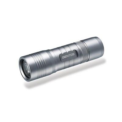 ジェントス LEDライト 防塵・防滴タイプ 白色LED×1灯 140lm φ30.0×106.2mm 単4形アルカリ電池×3本付 MC-143B