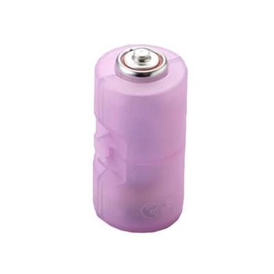 旭電機化成 単3が単2になる電池アダプター 2個入 パープル ADC-320PP