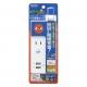 YAZAWA(ヤザワ) 日本でも海外でも使えるUSB3ポート付急速充電タップ VFC48A1AC3U 画像5