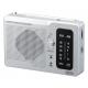 YAZAWA(ヤザワ) 長寿命AM/FM卓上ラジオ シルバー RD32SV 画像1